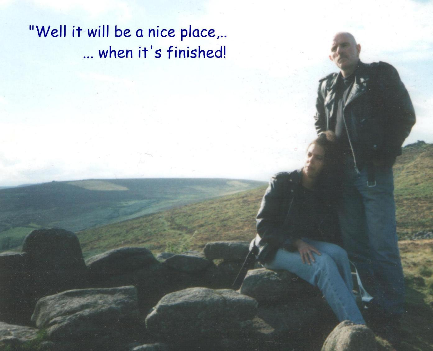 pb and pms all about what pbsong com ah the picture was taken by my daughter ruth and is kate an me in the ancient like me village of grimspound in the dartmoor national park